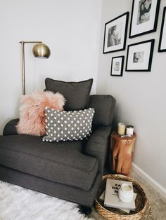 Mom Time Out - really want an oversized chair with lamp in corner of bedroom