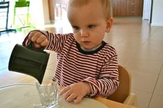 """How We Montessori. A site devoted to the Montessori theory: """" never do for a child what they can do for themselves""""."""