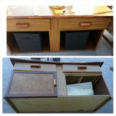 Coffee Table with storage boxes
