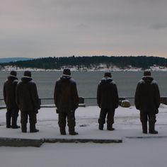 vinter i oslo   norge   bygdøy   bygdøynes   sydpolsmonument