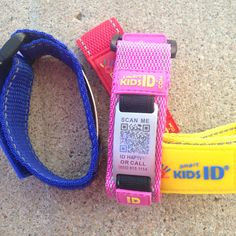 """Have you ever """"lost"""" your child? Even just for a second you couldn't see him. He was right next you then he wasn't. Usually you look around a corner or someone moves out to the way and you breath again. It's a terrifying moment. That's why we use SmartKid ID bracelets especially when we're in a crowded place, like an amusement park. It's an added precaution to help you breath in that moment."""