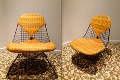 EAMES ALEXANDER GIRARD Fabric Cat's Cradle Base Vintage Herman Miller Black Wire Side Shell Chair Bikini Pad Upholstery Rare Collectible by TheAvidDiva on Etsy https://www.etsy.com/listing/166529940/eames-alexander-girard-fabric-cats