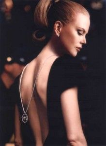 Nicole Kidman in an ad for Chanel No. 5. ...backs.