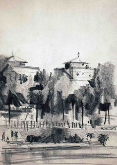 Urban sketchers show the world, one drawing at a time. Landscape Sketch, Landscape Drawings, Landscape Art, Tree Sketches, Drawing Sketches, Art Drawings, Urban Sketchers, Artist Sketchbook, Sketchbook Inspiration