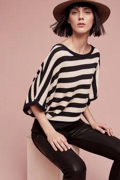 I love a strong stripe! | Rhea Striped Pullover | anthropologie