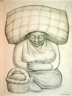 (Mother and Child by Diego Rivera, 1886-1957,  Mexican painter and muralist)