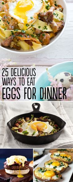 25 Delicious Ways To Eat Eggs For Dinner. Yum's Up! from Lodge Cast Iron. USA made since 1896!
