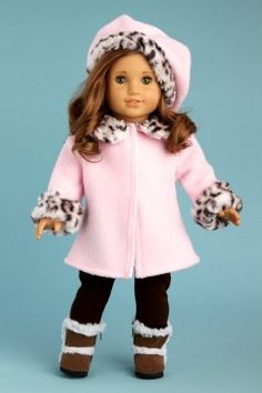 Super cute coat and hat. I have a yard or two of this faux leopard fabric.