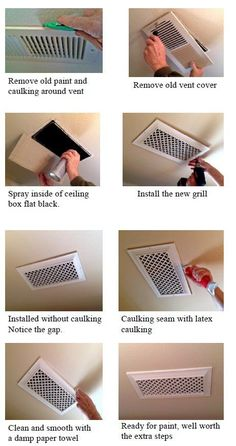 Custom Grill Covers, Air Registers, Vent Covers: Grill Installation - Air Registers How to Install ...