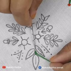 Diy Embroidery Patterns, Hand Embroidery Videos, Embroidery Stitches Tutorial, Embroidery Flowers Pattern, Creative Embroidery, Embroidery Techniques, Couture, Crochet, Hand Embroidery Patterns