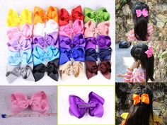 """Lot  4"""" Girl toddler baby Boutique Hair Bows  Clips 2/4/8/12/16/20/50/196 pcs #Miniangel"""