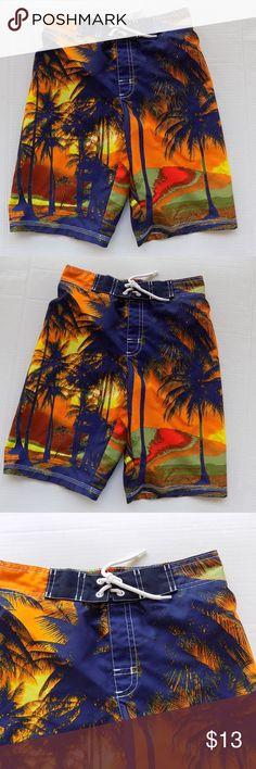 2b8916e5fd Gymboree Swim Shop Tropical Swim Trunks Size 10-12 Gymboree Swim trunk Size  10-