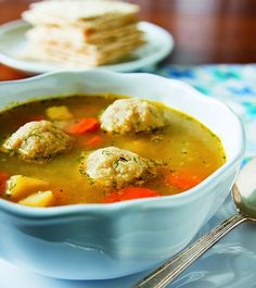 Vegetable Soup with Vegan Matzo Balls Recipe - Vegan Eastern European Jewish Recipes