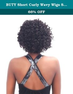 BUTY Short Curly Wavy Wigs Synthetic Sexy Female Haircut Wigs Natural Looking Women Hair Pelucas Pelo Tangle Free Short Synthetic Wigs, Darkest Brown, BUTY001-2. Its physical properties, appearance, color and texture are highly similar to real hair, look just like real hair.