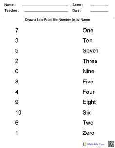 Match Number To Words Kindergarten Math Worksheet Match Number To Words Kindergarten Math Worksheet – Free Kindergarten Math Worksheets Printable Number Words Worksheets, 1st Grade Worksheets, Math Numbers, Free Printable Kindergarten Worksheets, Summer Worksheets, Writing Numbers, Free Printables, Kindergarten Math Worksheets, Homeschool Kindergarten