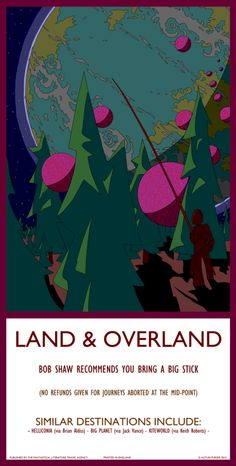 Land & Overland - Autun Purser Illustration Travel posters inspired by fantasy and science fiction locations
