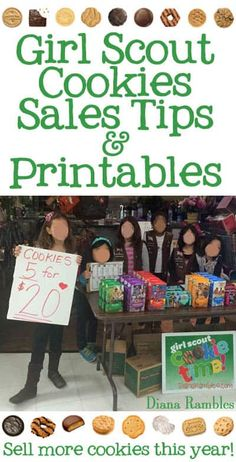 Girl Scout Cookie Booth Ideas & Tips with Free Printables