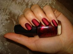 OPI - Ruby Stars (Moscow Loves OPI collection - fall 2009 Russia Exclusive) + Essie M.A.Y.    Great... if the description on the picture is correct, then I couldn't find this polish on Amazon or ebay, and it looks to have been sold exclusively in Russia.  *sigh*  This is a much bigger image than any other I'd found, so it might be the original.