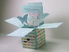 Butterfly Birthday Card in a Box