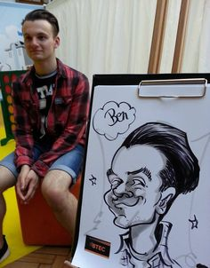 pen & ink on the spot caricature at the BTEC Awards at Royal Horticultural Halls, Westminster