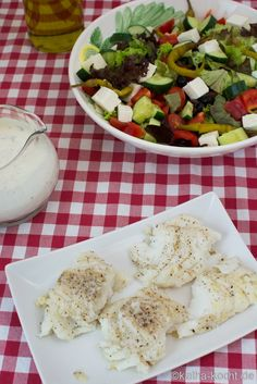 Kabeljau mit buntem Salat - Katha-kocht!