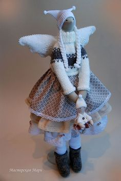 Купить Забава Зимняя. Тильда Ангел - тильда, кукла, текстильная кукла, авторская кукла