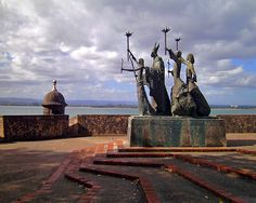 La Rogativa.  This statue is in Old San Juan in Puerto Rico.  Beautiful place to see.