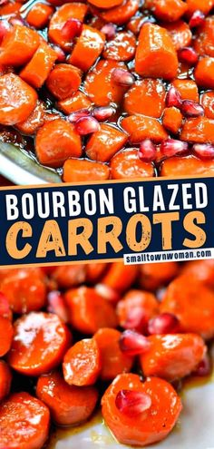 This recipe will be your go-to when hosting a dinner party! Carrot slices cook up perfectly in an extra large skillet for 20 minutes. Glazed in a bourbon brown sugar sauce with a mild touch of heat, this side dish is a mouthwatering addition to your Thanksgiving menu! Dinner Side Dishes, Healthy Side Dishes, Vegetable Side Dishes, Side Dish Recipes, Veggie Recipes, Vegetarian Recipes, Fun Recipes, Bread Recipes, Thanksgiving Side Dishes