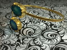 Agate Druzy bangle