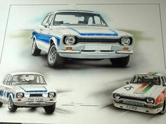 FORD ESCORT RS2000 RS1600 RS 2000 RS 1600 MEXICO GERRY MARSHALL HANS HEYER ART Spa, Ford Capri, Ford Escort, Mexico, Racing, Vehicles, Cars, Cologne, Artist