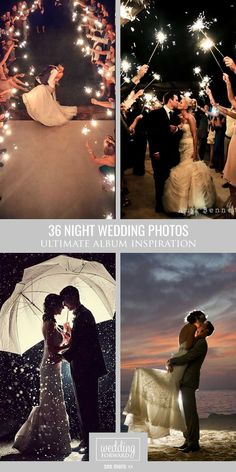 36 Incredible Night Wedding Photos That Are Must See ❤ Night wedding photos look incredible with string lights in background, sparklers or moonlight. See more: http://www.weddingforward.com/night-wedding-photos/ #wedding ##photography