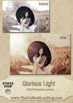 The CoffeeShop Blog: CoffeeShop Glorious Light PSE/Photoshop Action!