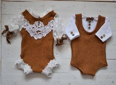 newborn photoprop, twin set, newborn outfit, photoprop, photography prop by HazyMoonProps on Etsy