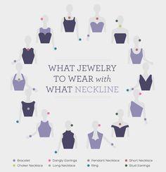 jewelry according to neckline