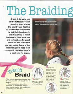 """American Girl Magazine - January 1993/February 1993 Issue - Page 29 (Part 1 of """"The Braiding Bunch"""")"""