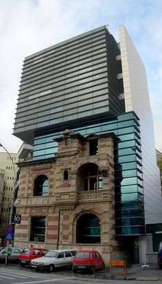 Bucharest - New Building with Old Facade by abuccellato, via Flickr