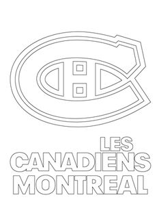 Montreal Canadiens Logo coloring page from NHL category. Select from 22533 printable crafts of cartoons, nature, animals, Bible and many more. Sports Coloring Pages, Cool Coloring Pages, Free Printable Coloring Pages, Hockey Birthday Parties, Hockey Party, Montreal Canadiens, Printable Crafts, Printables, Hockey Drawing