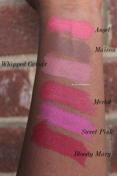 All the nyx matte lipstick swatches on dark skin