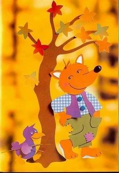 fox and bird paper crraft Fall Crafts, Halloween Crafts, Diy And Crafts, Crafts For Kids, Paper Crafts, Quiet Book Patterns, Craft Patterns, Classroom Crafts, School Decorations