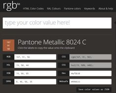 http://rgb.to/pantone/8024-c RGB to Pantone converter