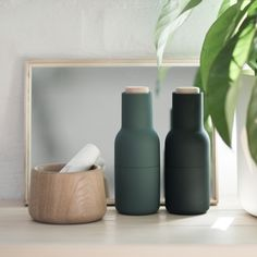 Designstuff.com.au offers a range of Scandinavian designed homewares including the incredible Menu salt and pepper bottle grinders in new colour dark green designed by Norm Architects.