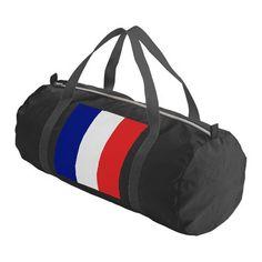 France flag French duffel bag