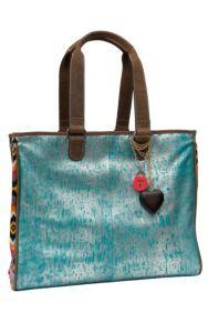 Consuela® Couture Laguna Metallic Turquoise with Multi Aztec Grande Tote   Cavender's