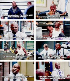 "Terry Jeffords, Brooklyn Nine-Nine ""Terry loves yogurt."""
