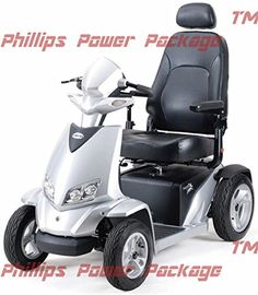 Merits  Silverado Extreme  4Wheel Full Suspension Electric Scooter  20W x 18D Silver  PHILLIPS POWER PACKAGE TM  TO 500 VALUE ** Detailed information can be found by clicking on the VISIT button