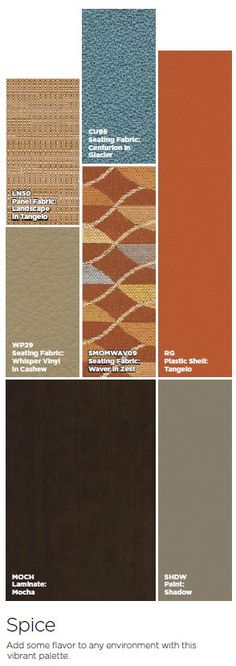 Spice - Add some flavor to any environment with this vibrant palette.