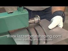 Basic English Wheel Technique, Lazze Metal Shaping - YouTube