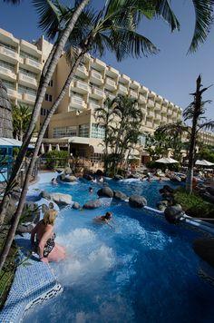 Swimming pool IFA Catarina, Playa del Ingles, Gran Canaria #Canarias #travel @Lopesan Hotel Group Hotel Group Hotel Group