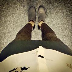 "//Outfit of the day - ""Elephant Couture""  Strumpfhose: Hudson, Bluse: Zara, Rock: Zara, Stefeletten: Zara  xoxo loo"