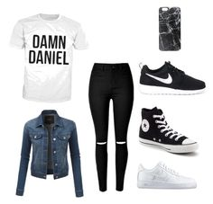 """""""☁️☁️"""" by pariaghalavand ❤ liked on Polyvore featuring LE3NO, NIKE, Converse and Casetify"""